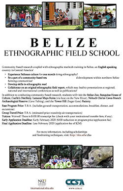 Ethnographic Field School Poster