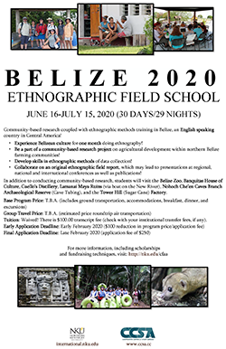 Ethnographic Field School Belize Poster