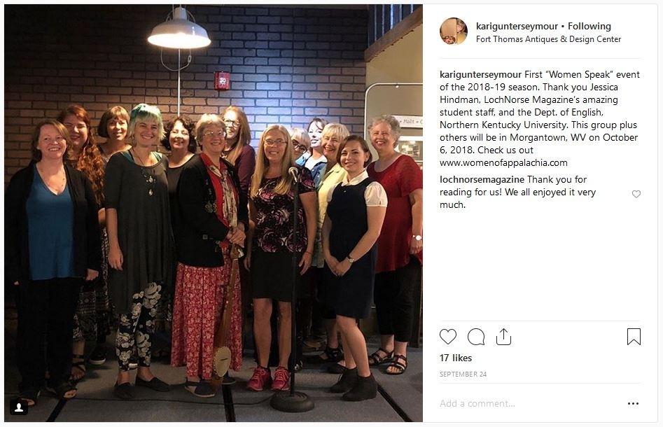 The Women Writers of Appalachia Pictured at Loch Norse Open Mic Night
