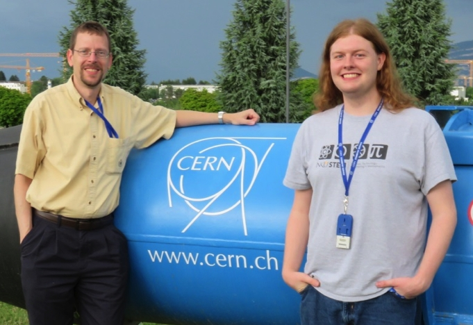 Student and Faculty at CERN
