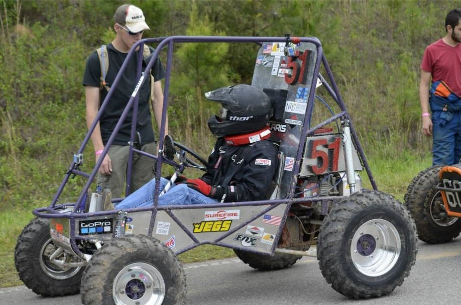 Students testing a vehicle for the Baja SAE Competition