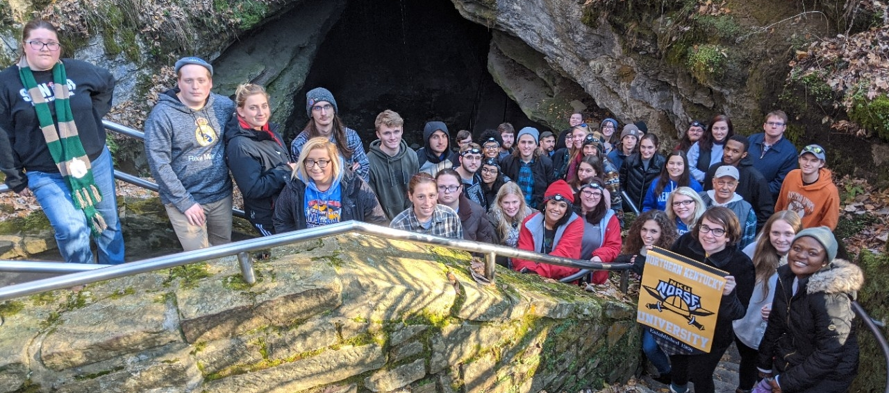 Geology students at Mammoth Cave