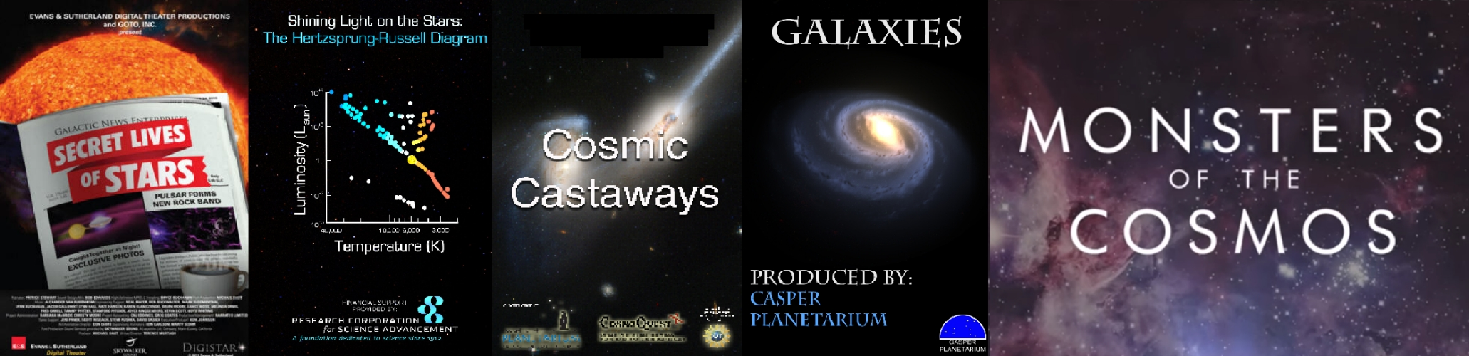 Stars and Galaxies Shows at Haile Planetarium