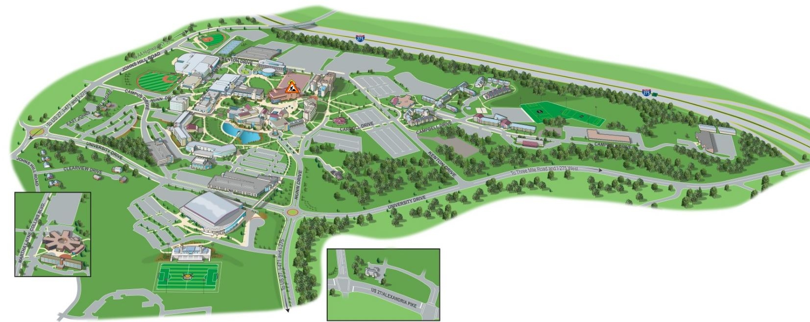 Campus Maps : Northern Kentucky University, Greater