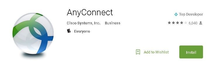 Cisco AnyConnect on the Google Play Store.