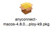 VPN installation file on Mac.