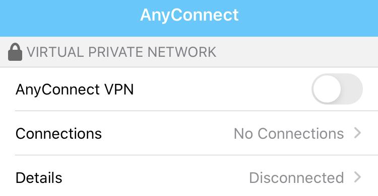 Cisco Any Connect App.