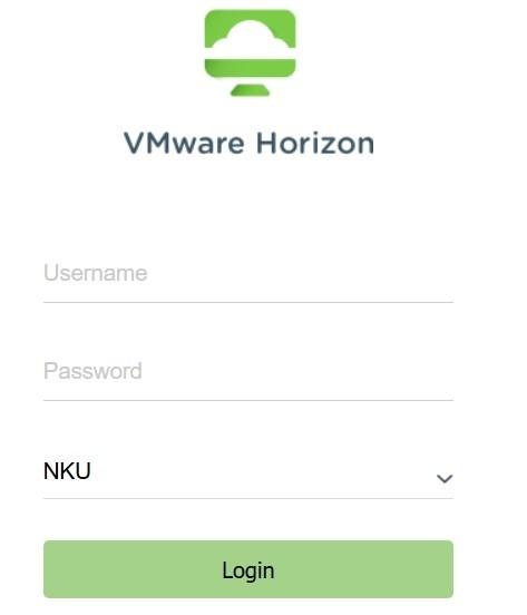 VMware HTML Access login.