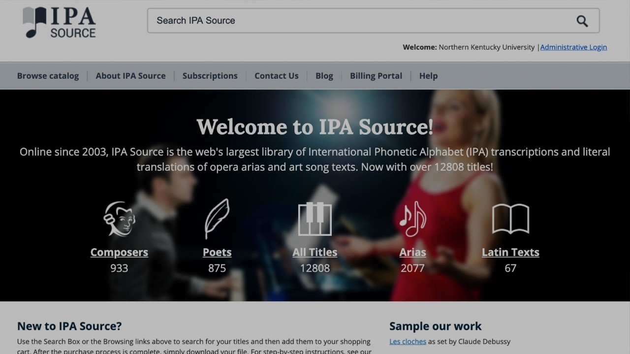 IPA Source Website. A screenshot of the IPA Source home page.