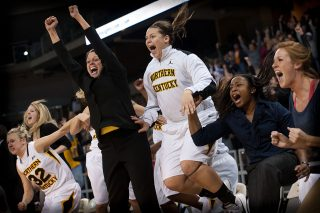 Women's basketball gets first Division I victory