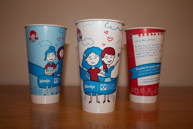 Wendy's cups designed by Emily Marsala