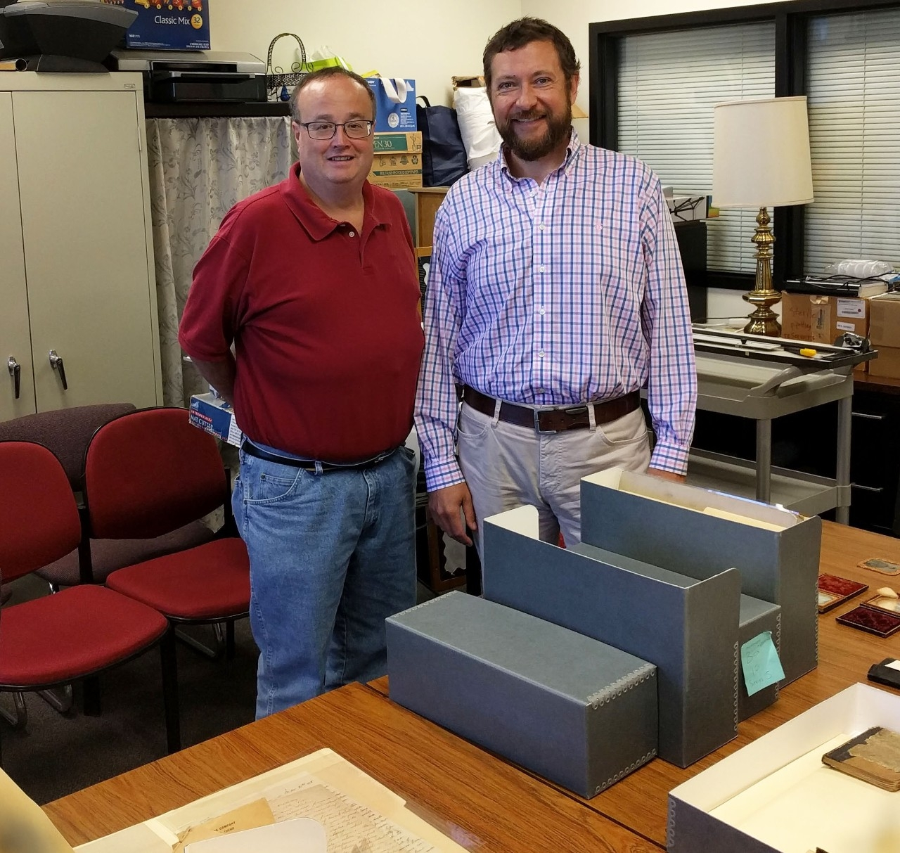 Dr. Brian Hackett and Dr. William Landon, NKU History Dept.