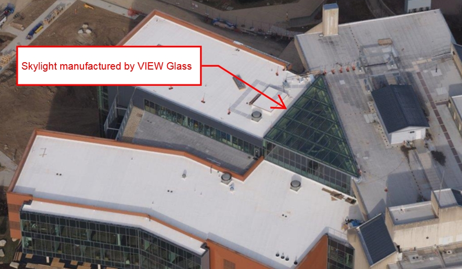 Aerial View of Health Innovation Center Skylight